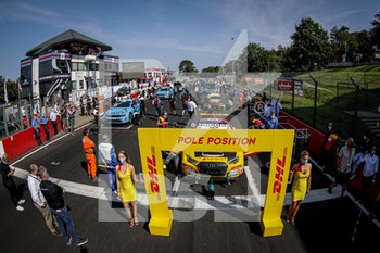 11/09/2020 - 17 Berthon Nathanael (fra), Comtoyou DHL Team Audi Sport, Audi LMS, action Pre grid Race 2 during the 2020 FIA WTCR Race of Belgium, 1st round of the 2020 FIA World Touring Car Cup, on the Circuit Zolder, from September 11 to 13, 2020 in Zolder, Belgium - Photo Paulo Maria / DPPI - FIA WORLD TOURING CAR CUP 2020 - BELGIO - TURISMO E GRAN TURISMO - MOTORI