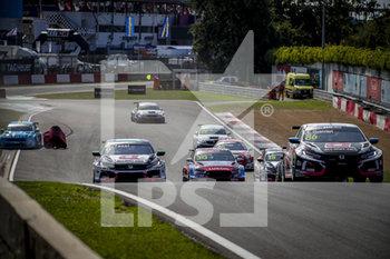 11/09/2020 - 09 Tassi Attila (hun), ALL-INKL.DE Munnich Motorsport, Honda Civic TCR, action 86 Guerrieri Esteban (arg), ALL-INKL.DE Munnich Motorsport, Honda Civic TCR, action Race 2 during the 2020 FIA WTCR Race of Belgium, 1st round of the 2020 FIA World Touring Car Cup, on the Circuit Zolder, from September 11 to 13, 2020 in Zolder, Belgium - Photo Paulo Maria / DPPI - FIA WORLD TOURING CAR CUP 2020 - BELGIO - TURISMO E GRAN TURISMO - MOTORI