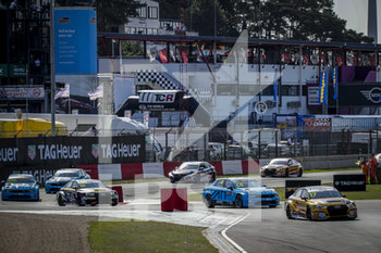 11/09/2020 - 17 Berthon Nathanael (fra), Comtoyou DHL Team Audi Sport, Audi LMS, action, 68 Ehrlacher Yann (fra), Cyan Performance Lynk and Co, Lynk and Co 03 TCR, action Race 2 during the 2020 FIA WTCR Race of Belgium, 1st round of the 2020 FIA World Touring Car Cup, on the Circuit Zolder, from September 11 to 13, 2020 in Zolder, Belgium - Photo Paulo Maria / DPPI - FIA WORLD TOURING CAR CUP 2020 - BELGIO - TURISMO E GRAN TURISMO - MOTORI