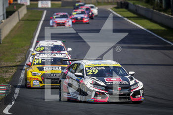 11/09/2020 - 29 Girolami Nestor (arg), ALL-INKL.DE Munnich Motorsport, Honda Civic TCR, action Race 2 during the 2020 FIA WTCR Race of Belgium, 1st round of the 2020 FIA World Touring Car Cup, on the Circuit Zolder, from September 11 to 13, 2020 in Zolder, Belgium - Photo Paulo Maria / DPPI - FIA WORLD TOURING CAR CUP 2020 - BELGIO - TURISMO E GRAN TURISMO - MOTORI