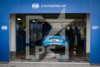 10/10/2020 - FIA Scrutineering during the 2020 FIA WTCR Race of Slovakia, 3rd round of the 2020 FIA World Touring Car Cup, on the Automotodrom Slovakia Ring, from October 9 to 11, 2020 in Orechova Poton, Slovakia - Photo Florent Gooden / DPPI - 2020 FIA WTCR RACE OF SLOVAKIA, 3RD ROUND OF THE WORLD TOURING CAR CUP - TURISMO E GRAN TURISMO - MOTORI
