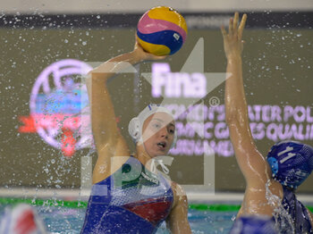 22/01/2021 - 11 CHIAPPINI Izabella [ROLE: Wing] (Italy) vs 11 HOCHBERG Nofar [ROLE: Wing] (Israel)  - WOMEN'S WATERPOLO OLYMPIC GAME QUALIFICATION TOURNAMENT 2021 - ITALY VS ISRAEL - TORNEO OLIMPICO - PALLANUOTO