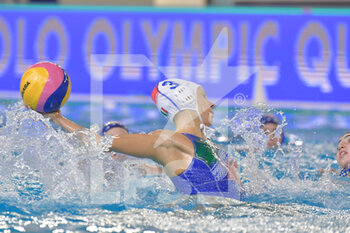22/01/2021 - 3 GARIBOTTI Arianna [ROLE: Wing] (Italy)  - WOMEN'S WATERPOLO OLYMPIC GAME QUALIFICATION TOURNAMENT 2021 - ITALY VS ISRAEL - TORNEO OLIMPICO - PALLANUOTO