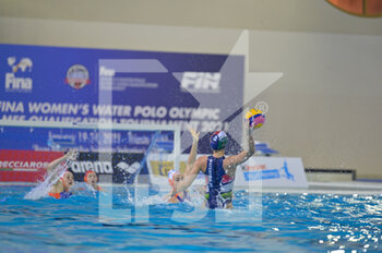 24/01/2021 - 2 SZILAGYI Dorottya [ROLE: Wing] (Hungary)  - WOMEN'S WATERPOLO OLYMPIC GAME QUALIFICATION TOURNAMENT 2021 - NETHERLANDS VS HUNGARY - TORNEO OLIMPICO - PALLANUOTO