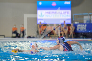 24/01/2021 -  6 STOMPHORST Nomi [ROLE: All-Round] (Netherlands) - 4 GURISATTI Greta [ROLE: Field Player] (Hungary)  - WOMEN'S WATERPOLO OLYMPIC GAME QUALIFICATION TOURNAMENT 2021 - NETHERLANDS VS HUNGARY - TORNEO OLIMPICO - PALLANUOTO