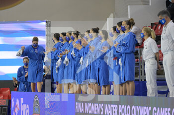 24/01/2021 - GREECE Team - WOMEN'S WATERPOLO OLYMPIC GAME QUALIFICATION TOURNAMENT 2021 - ITALY VS GREECE - TORNEO OLIMPICO - PALLANUOTO