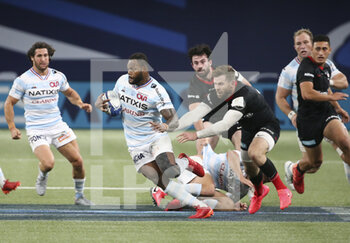 26/09/2020 - Virimi Vakatawa of Racing 92, Elliot Daly of Saracens during the Champions Cup, semi-final rugby union match between Racing 92 and Saracens on September 26, 2020 at Paris La Defense Arena in Nanterre near Paris, France - Photo Juan Soliz / DPPI - SEMI-FINAL - RACING 92 VS SARACENS - HEINEKEN CHAMPIONS CUP - RUGBY