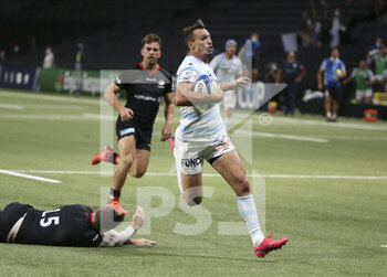 26/09/2020 - Juan Imhoff of Racing 92 scores the winning try during the Champions Cup, semi-final rugby union match between Racing 92 and Saracens on September 26, 2020 at Paris La Defense Arena in Nanterre near Paris, France - Photo Juan Soliz / DPPI - SEMI-FINAL - RACING 92 VS SARACENS - HEINEKEN CHAMPIONS CUP - RUGBY