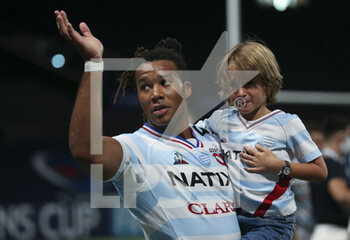 26/09/2020 - Teddy Thomas of Racing 92 celebrates the victory following the Champions Cup, semi-final rugby union match between Racing 92 and Saracens on September 26, 2020 at Paris La Defense Arena in Nanterre near Paris, France - Photo Juan Soliz / DPPI - SEMI-FINAL - RACING 92 VS SARACENS - HEINEKEN CHAMPIONS CUP - RUGBY