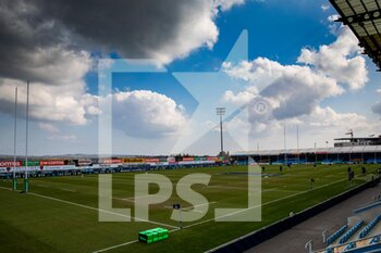 10/04/2021 - A general view of Sandy Park, home of Exeter Chiefs ahead of the European Rugby Champions Cup, quarter-final rugby union match between Exeter Chiefs and Leinster Rugby on April 10, 2021 at Sandy Park in Exeter, England - Photo Simon King / ProSportsImages / DPPI - EXETER CHIEFS VS LEINSTER RUGBY - HEINEKEN CHAMPIONS CUP - RUGBY