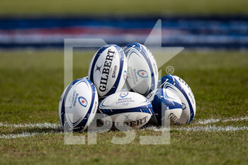 10/04/2021 - Match balls ahead of the European Rugby Champions Cup, quarter-final rugby union match between Exeter Chiefs and Leinster Rugby on April 10, 2021 at Sandy Park in Exeter, England - Photo Simon King / ProSportsImages / DPPI - EXETER CHIEFS VS LEINSTER RUGBY - HEINEKEN CHAMPIONS CUP - RUGBY