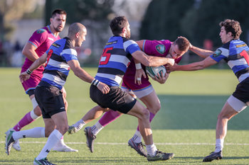 08/12/2018 - contrasto Biondelli vs Dzneladze - FF.OO. RUGBY VS RC LOCOMOTIVE TIBLISI - CONTINENTAL SHIELD - RUGBY