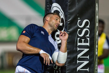 08/09/2018 - un momento del warm up di Tommaso Benvenuti - BENETTON TREVISO VS CARDIFF BLUES - GUINNESS PRO 14 - RUGBY