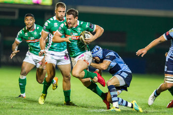 08/09/2018 - matthew Morgan placca come può Luca Morrisi - BENETTON TREVISO VS CARDIFF BLUES - GUINNESS PRO 14 - RUGBY