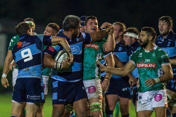 08/09/2018 - scambi di opinioni tra Nick Williams e Sebastian Negri - BENETTON TREVISO VS CARDIFF BLUES - GUINNESS PRO 14 - RUGBY