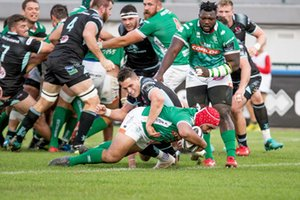 La meta di Hame Faiva - Benetton Treviso vs Ulster Rugby - GUINNESS PRO 14 - RUGBY