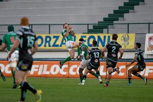 Presa a volo di Jayden Hayward - Benetton Treviso vs Ulster Rugby - GUINNESS PRO 14 - RUGBY