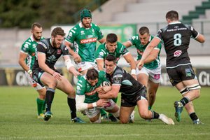 Alessandro Zanni placcato - Benetton Treviso vs Ulster Rugby - GUINNESS PRO 14 - RUGBY