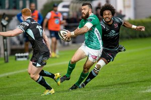 Jayden Hayward in azione poi infortunato - Benetton Treviso vs Ulster Rugby - GUINNESS PRO 14 - RUGBY