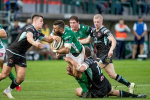 Jayden Hayward placcato da Stuart McCloskey - Benetton Treviso vs Ulster Rugby - GUINNESS PRO 14 - RUGBY