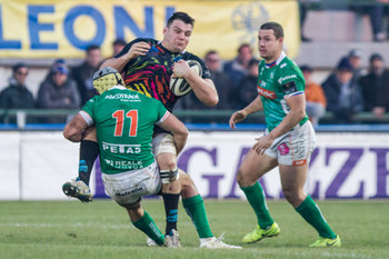 Angelo Esposito placca David Sisi - Benetton Treviso Vs Zebre Rugby - GUINNESS PRO 14 - RUGBY