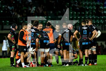 13/09/2019 - Zebre Rugby durante il time out - AMICHEVOLE PRE SEASON - BENETTON TREVISO VS ZEBRE RUGBY - GUINNESS PRO 14 - RUGBY