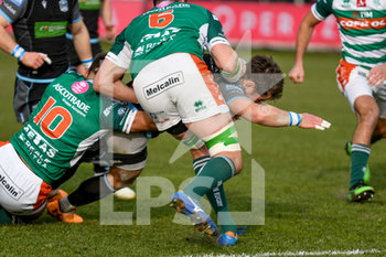 04/01/2020 - meta di Pete Horne (Glasgow) - BENETTON TREVISO VS GLASGOW WARRIORS - GUINNESS PRO 14 - RUGBY