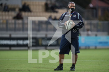 02/10/2020 - Zebre's Head Coach Michael Bradley during the warm up - ZEBRE VS CARDIFF BLUES - GUINNESS PRO 14 - RUGBY