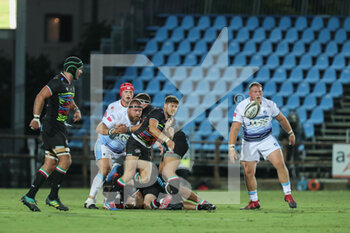 02/10/2020 - Zebre scrum half Marcello Violi with the pass from the ruck - ZEBRE VS CARDIFF BLUES - GUINNESS PRO 14 - RUGBY