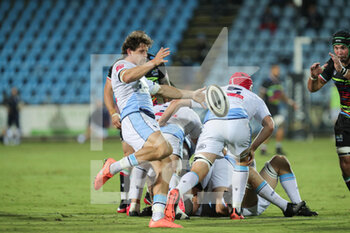 02/10/2020 - Lloyd William (Cardiff) with a liberation kick - ZEBRE VS CARDIFF BLUES - GUINNESS PRO 14 - RUGBY