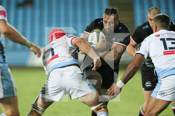 02/10/2020 - Tuivaiti (Zebre) carries the ball against Cardiff - ZEBRE VS CARDIFF BLUES - GUINNESS PRO 14 - RUGBY