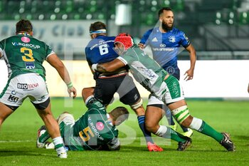 10/10/2020 - Hame Faiva (Treviso) tackles Caelan Doris (Leinster) - BENETTON TREVISO VS LEINSTER RUGBY - GUINNESS PRO 14 - RUGBY