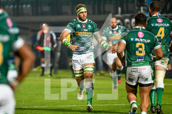 10/10/2020 - Niccolo Cannone (Treviso) entering the game field - BENETTON TREVISO VS LEINSTER RUGBY - GUINNESS PRO 14 - RUGBY