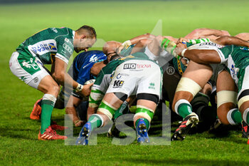 10/10/2020 - Dewaldt Duvenage (Treviso) introdicing in scrum - BENETTON TREVISO VS LEINSTER RUGBY - GUINNESS PRO 14 - RUGBY