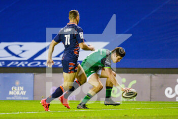 25/10/2020 - Alex Wooton (11) of Connacht Rugby scores a try during the Guinness Pro 14 rugby union match between Edinburgh Rugby and Connacht Rugby on October 25, 2020 at BT Murrayfield Stadium in Edinburgh, Scotland - Photo Malcolm Mackenzie / ProSportsImages / DPPI - EDINBURGH RUGBY VS CONNACHT RUGBY - GUINNESS PRO 14 - RUGBY