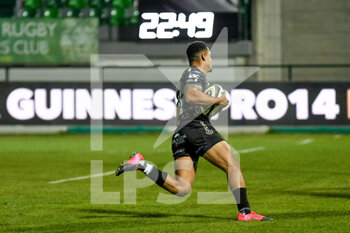 29/11/2020 - Ashton Hewitt (Dragons) scores a try - BENETTON VS DRAGONS - GUINNESS PRO 14 - RUGBY