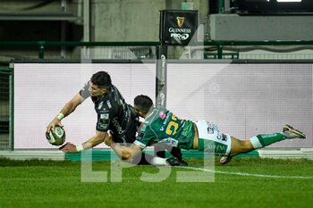29/11/2020 - The canceled try by Owen Jenkins (Dragons) - BENETTON VS DRAGONS - GUINNESS PRO 14 - RUGBY