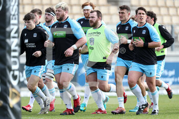 06/03/2021 - Glasgow Warriors team during warm up - ZEBRE VS GLASGOW WARRIORS - GUINNESS PRO 14 - RUGBY