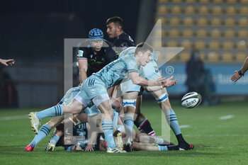 12/03/2021 - Luke McGrath (Leinster) passes from the ruck - ZEBRE VS LEINSTER RUGBY - GUINNESS PRO 14 - RUGBY