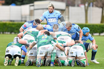 14/03/2021 - Josh Turnbull (Cardiff) over the scrum - BENETTON TREVISO VS CARDIFF BLUES - GUINNESS PRO 14 - RUGBY