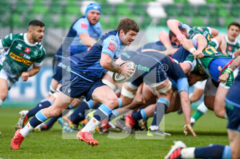 14/03/2021 - Lewis Jones (Cardiff) carries the ball - BENETTON TREVISO VS CARDIFF BLUES - GUINNESS PRO 14 - RUGBY