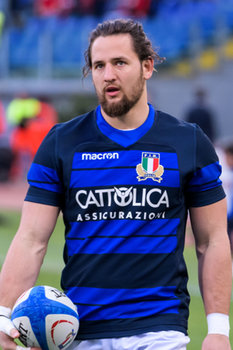 09/02/2019 - Michele Campagnaro - ITALIA VS GALLES SIX NATIONS 2019 - NAZIONALI ITALIANE - RUGBY