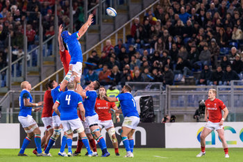 09/02/2019 - touche Italia - ITALIA VS GALLES SIX NATIONS 2019 - NAZIONALI ITALIANE - RUGBY