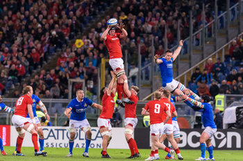 09/02/2019 - touche Galles - ITALIA VS GALLES SIX NATIONS 2019 - NAZIONALI ITALIANE - RUGBY