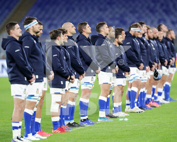 31/10/2020 - national anthem Italy - ITALIA VS INGHILTERRA - 6 NAZIONI - RUGBY