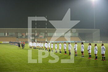 01/11/2020 - The two teams during nationals anthem - SEI NAZIONI FEMMINILE 2020 - ITALIA VS INGHILTERRA - 6 NAZIONI - RUGBY