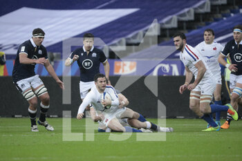26/03/2021 - Swan REBBADJ (FRA) watched by Duhan van der Merwe (SCO) during the 2021 Six Nations, rugby union match between France and Scotland on March 26, 2021 at Stade de France in Saint-Denis near Paris, France - Photo Stephane Allaman / DPPI - 2021 GUINNESS SIX NATIONS RUGBY - FRANCE VS SCOTLAND - 6 NAZIONI - RUGBY