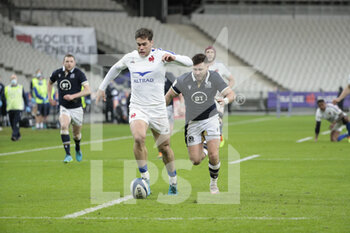 26/03/2021 - Damian PENAUD (FRA) kicked the ball and gonna scored a try during the 2021 Six Nations, rugby union match between France and Scotland on March 26, 2021 at Stade de France in Saint-Denis near Paris, France - Photo Stephane Allaman / DPPI - 2021 GUINNESS SIX NATIONS RUGBY - FRANCE VS SCOTLAND - 6 NAZIONI - RUGBY