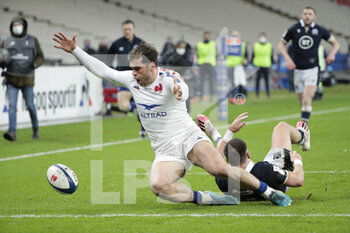 26/03/2021 - Damian PENAUD (FRA) scored a try during the 2021 Six Nations, rugby union match between France and Scotland on March 26, 2021 at Stade de France in Saint-Denis near Paris, France - Photo Stephane Allaman / DPPI - 2021 GUINNESS SIX NATIONS RUGBY - FRANCE VS SCOTLAND - 6 NAZIONI - RUGBY
