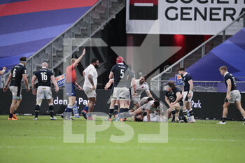 26/03/2021 - Brice DULIN (FRA) lost the ball for scotish during the 2021 Six Nations, rugby union match between France and Scotland on March 26, 2021 at Stade de France in Saint-Denis near Paris, France - Photo Stephane Allaman / DPPI - 2021 GUINNESS SIX NATIONS RUGBY - FRANCE VS SCOTLAND - 6 NAZIONI - RUGBY